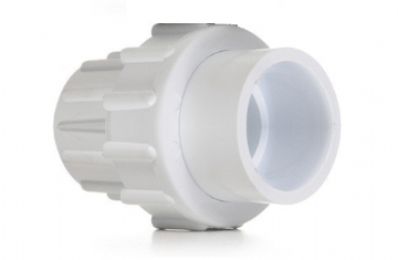 "1.5"" White ABS Socket Union"
